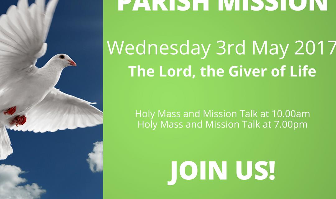 Parish Mission 1-4 May 2017