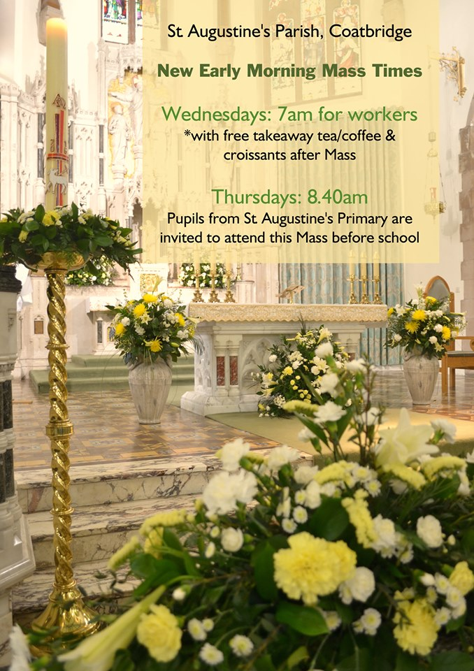 New Weekday Mass Times